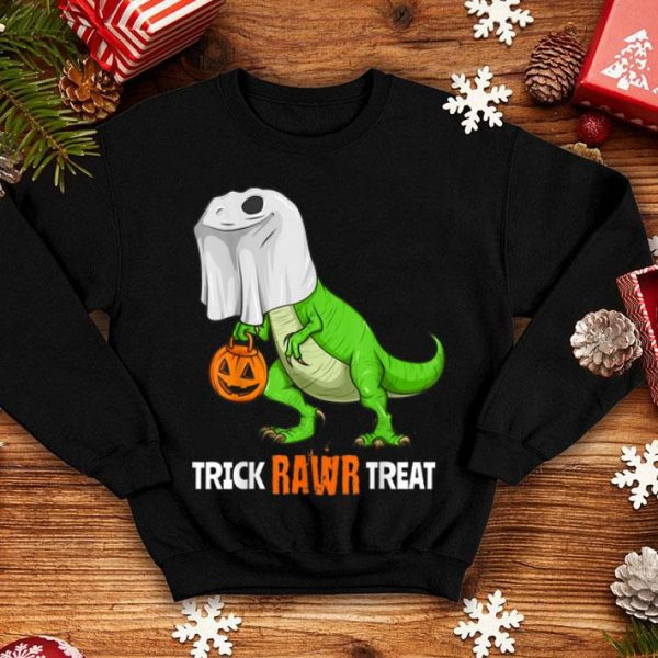 Original Halloween T Rex Dinosaur Ghost Trick RAWR Treat Funny Cute shirt