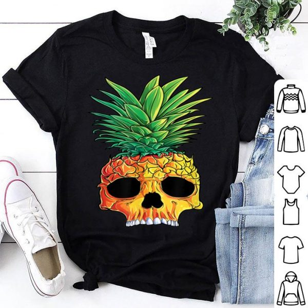 Original Pineapple Skull Aloha Beaches Hawaiian Hawaii Goth shirt