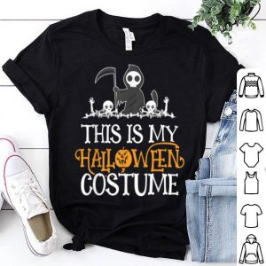 Premium This Is My Halloween Costume Men Death Grim Reaper Skull shirt