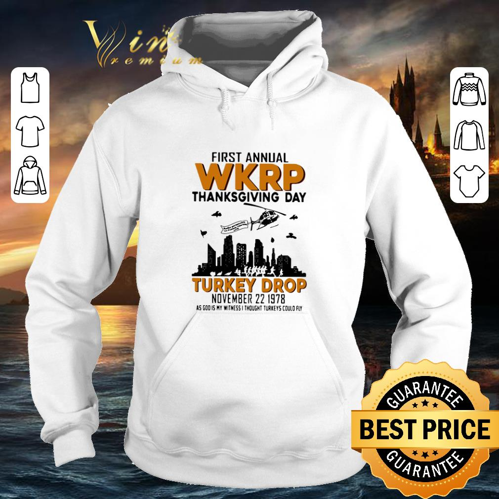 Pretty First annual wkrp thanksgiving day Turkey drop november 22 1978 shirt 4 - Pretty First annual wkrp thanksgiving day Turkey drop november 22 1978 shirt