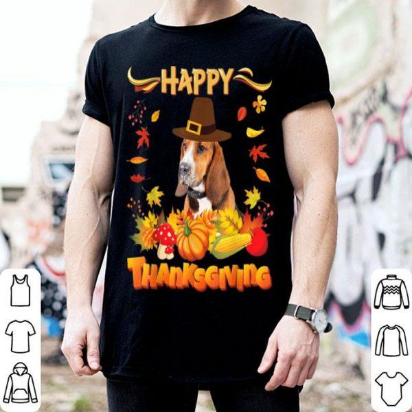 Pretty Happy Thanksgiving Basset Hound Dog I'm Thankful For My Love shirt