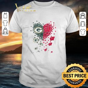 Pretty Love Green Bay Packers Wisconsin Badgers Tiny Hearts Shape shirt