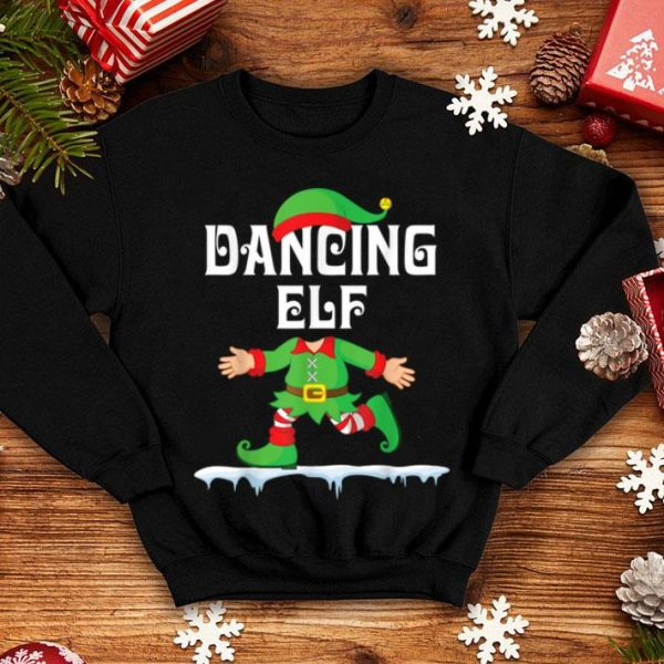 Top Lovely ELF Walking Dance On Snow Dancing ELF Merry Christmas shirt