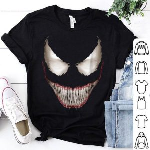 Top Marvel Venom Big Face Grin Halloween Costume Graphic shirt