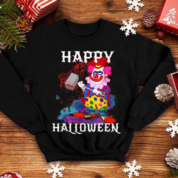 Top Psycho Killer Clown Happy Halloween Party Tee shirt