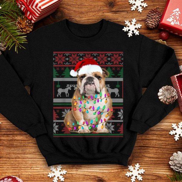 Awesome Bulldog Ugly Sweater Christmas Gift shirt