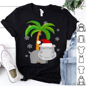 Awesome Cute Hippo Santa Hat Christmas Holiday sweater