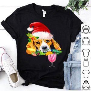 Awesome Funny Beagle Tropical Christmas Hawaii shirt