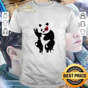 Awesome Kiss Panda Rock shirt