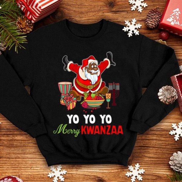 Awesome Yo Yo Yo Merry Kwanzaa Ugly Christmas shirt