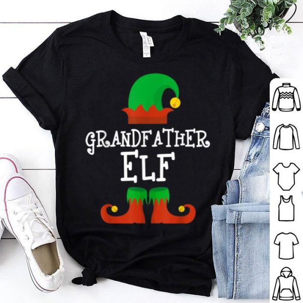 Beautiful Grandfather Elf Christmas Funny Xmas Gift shirt