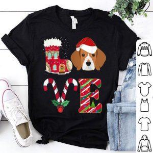 Beautiful I Love My Beagle Funny Christmas Beagle Dad Mom Gift shirt
