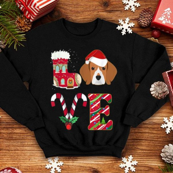 Beautiful I Love My Beagle Funny Christmas Beagle Dad Mom Gift shirt