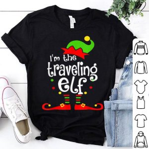 Beautiful I'm The Traveling ELF Christmas Xmas Funny Matching Squad shirt
