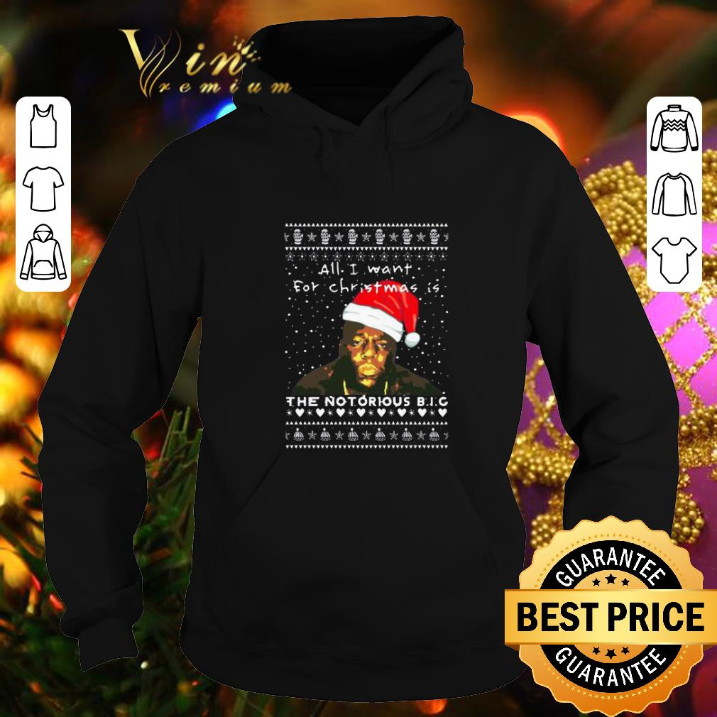 Hot All i want for Christmas is The Notorious BIG Rapper shirt 4 - Hot All i want for Christmas is The Notorious BIG Rapper shirt