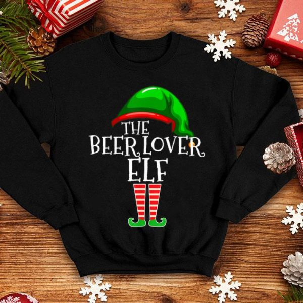 Hot Beer Lover Elf Group Matching Family Christmas Gift Funny shirt