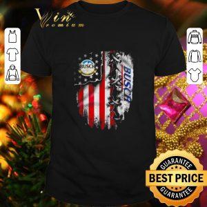 Hot Busch Light inside American flag shirt