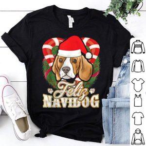 Hot Feliz Navidog Beagle With Santa Claus Hat Dog Christmas Gift shirt