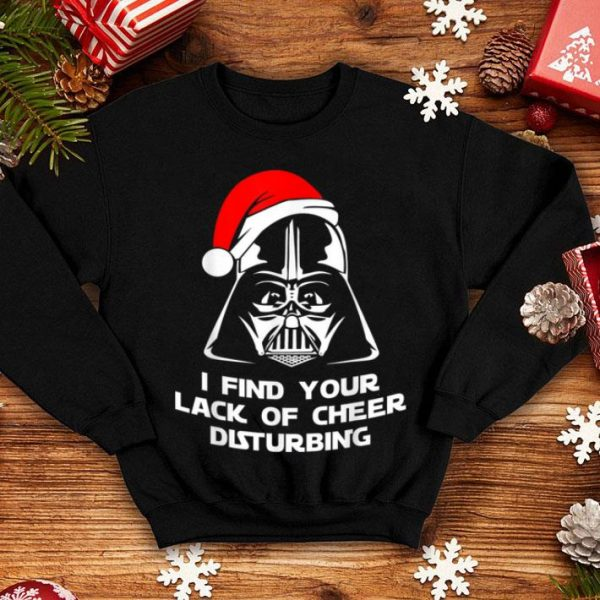 Hot I Find Your Lack Of Cheer Disturbing, Funny Christmas shirt