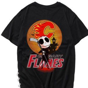 Hot Jack Skellington Holding Hockey Stick Calgary Flames Sunset shirt