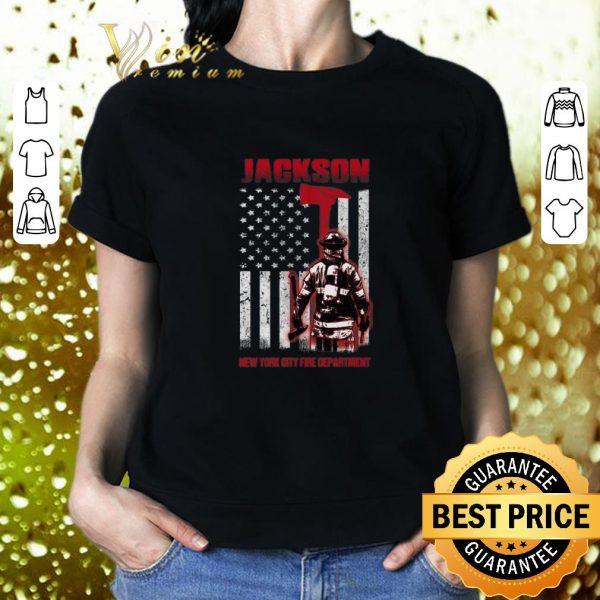 Hot Jackson New York city fire department American flag shirt