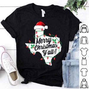 Hot Merry Christmas Y'All Texas State Texan Holiday shirt