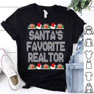 Hot Santas Favorite Realtor Christmas Gift for Real Estate Agent sweater