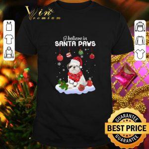 Hot Shih Tzu i believe in Santa paws Christmas shirt