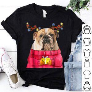 Nice Christmas Dog Gift Bulldog Antlers Ugly Xmas Sweater shirt