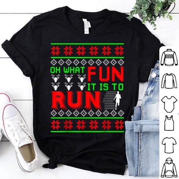 Nice Christmas Running Runner Half Marathon 5k Race Gift shirt