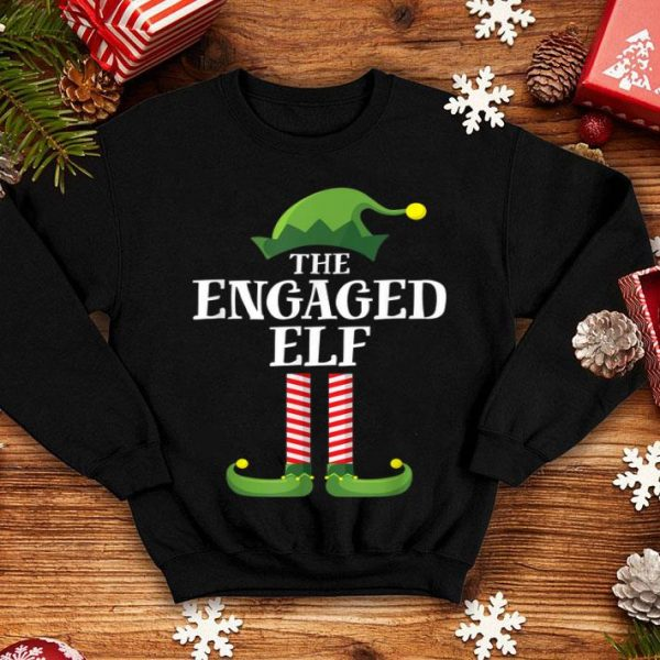 Nice Engaged Elf Matching Family Group Christmas Party Pajama shirt