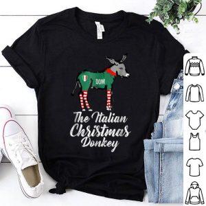 Nice Italian Christmas Donkey American Italian Xmas Gift shirt