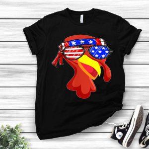 Nice Turkey Face American Patriot Running Trot Thanksgiving Gift shirt