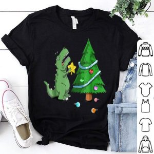 Official Funny Struggle Is Real Dinosaur Christmas Tree Star shirt