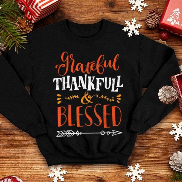 Official Grateful Thankful Blessed Happy Thanksgiving Gift Top shirt