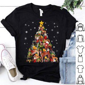 Official Greyhound Christmas Tree Xmas Gift For Greyhound Dog shirt