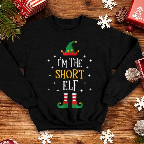 Official I'm The Short Elf Funny Xmas Gift Family Group shirt