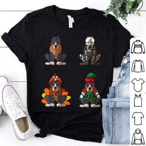 Official Pitbull Halloween Christmas Thanksgiving Dog Lover shirt