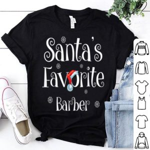 Official Santa's Favorite Barber Job Xmas gifts shirt