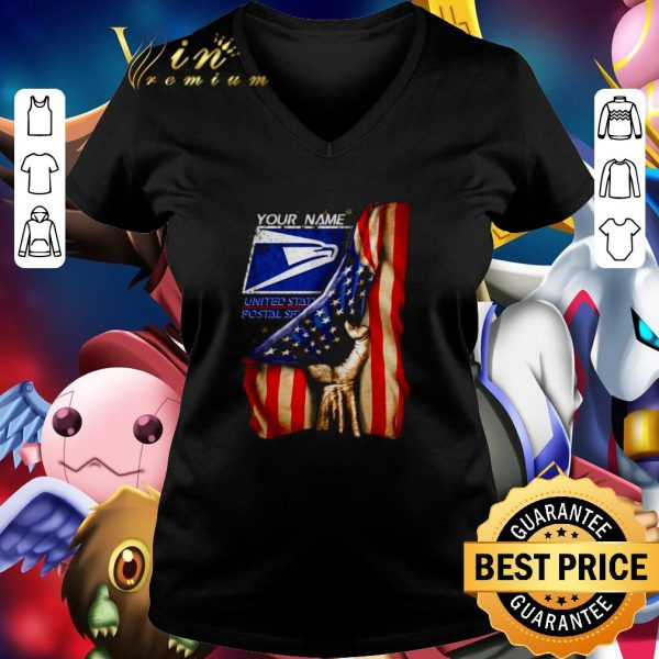 Original 4th of July independence day your name US Postal Service shirt