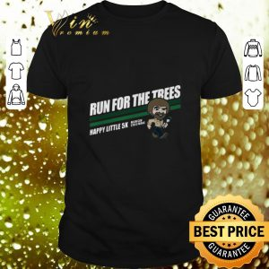 Original Bob Ross run for the trees happy little 5k Michigan State Parks shirt