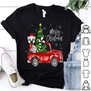 Original Cute Lemur Truck Christmas Costume Funny Lemur Lover Gift sweater
