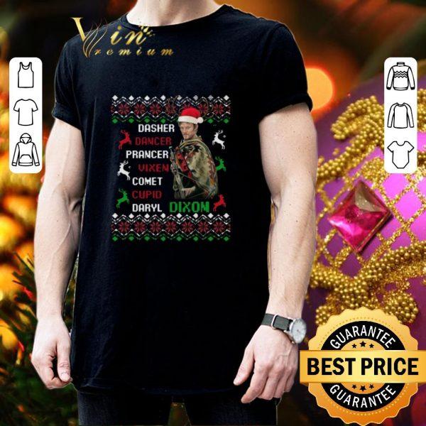 Original Daryl Dixon dasher dancer prancer vixen cupid ugly Christmas sweater