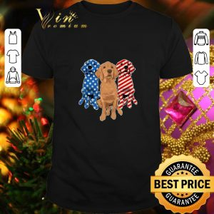 Original Golden Retriever 4th July independence day American flag shirt
