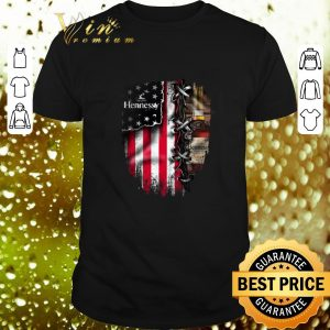 Original Hennessy inside American flag shirt