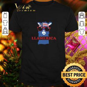 Original Llama Llamerica American flag shirt