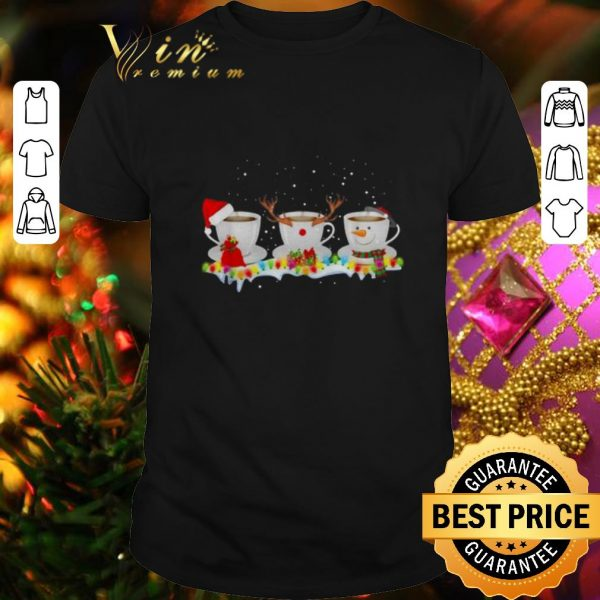 Original Santa coffee cups Christmas shirt