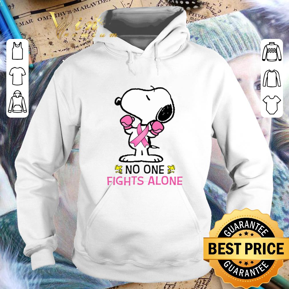 Original Snoopy no one fights alone Breast Cancer Awareness shirt 4 - Original Snoopy no one fights alone Breast Cancer Awareness shirt