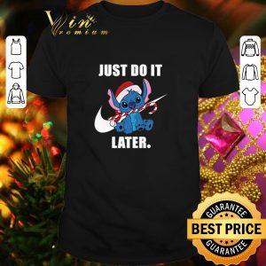 Original Stitch Nike just do it later Christmas shirt