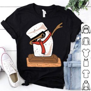Pretty Funny Dabbing Marshmallows S'mores Day Christmas shirt